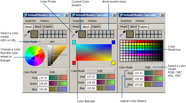 Set Brush Paint Color Alias Products Autodesk Knowledge Network