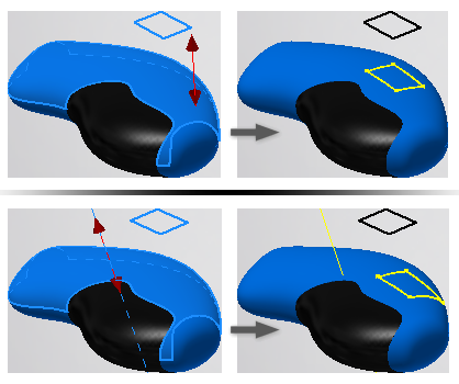 Project curve or point to surface | Inventor | Autodesk