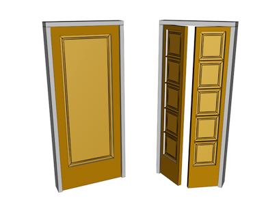 Single and double pivot doors