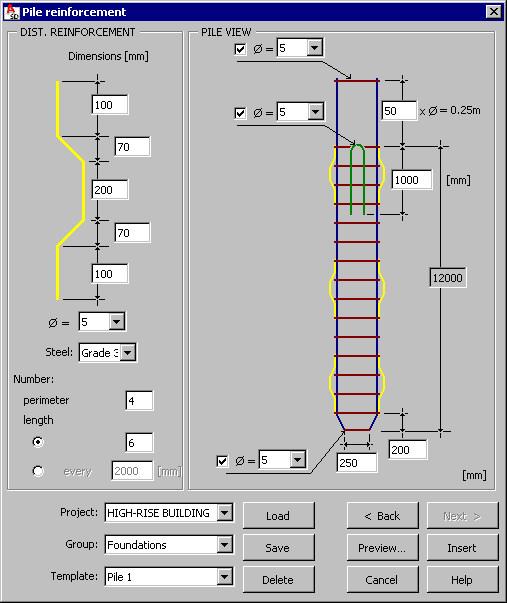 Pile Reinforcement - View | AutoCAD Structural Detailing | Autodesk