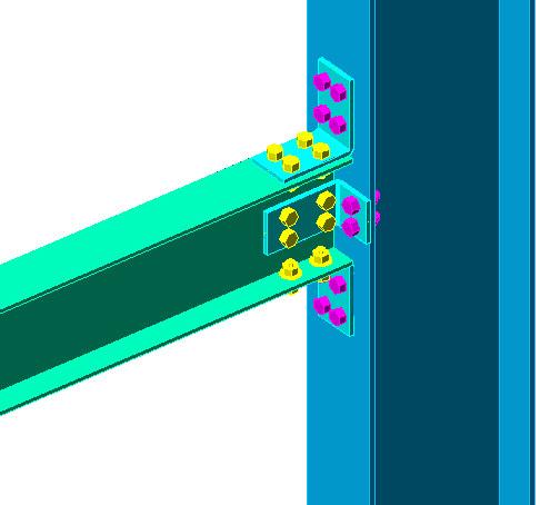 Help: Clip angle - beam/column flange