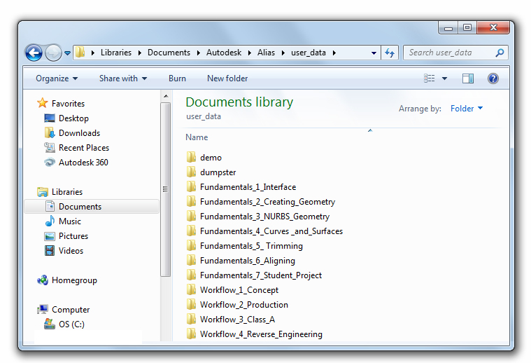 Alias 2015 Help: Install the data files