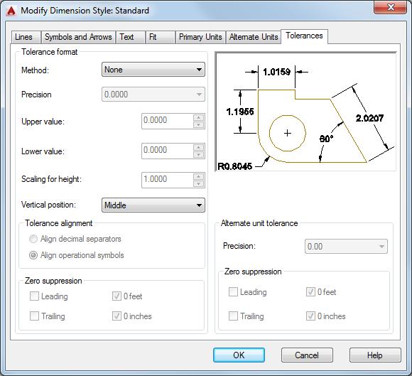 Tolerances Tab Dimension Style Manager Autocad Autodesk