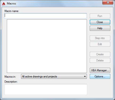 Macros Dialog Box | AutoCAD | Autodesk Knowledge Network