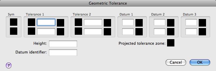 Help Geometric Tolerance Dialog Box