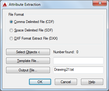 Attribute Extraction Dialog Box | AutoCAD LT | Autodesk