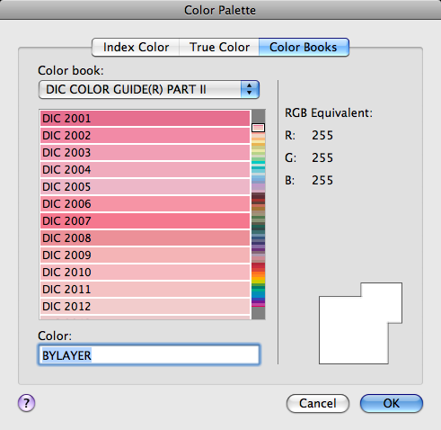 Color Books Tab (Color Palette Dialog Box) | AutoCAD for Mac ...