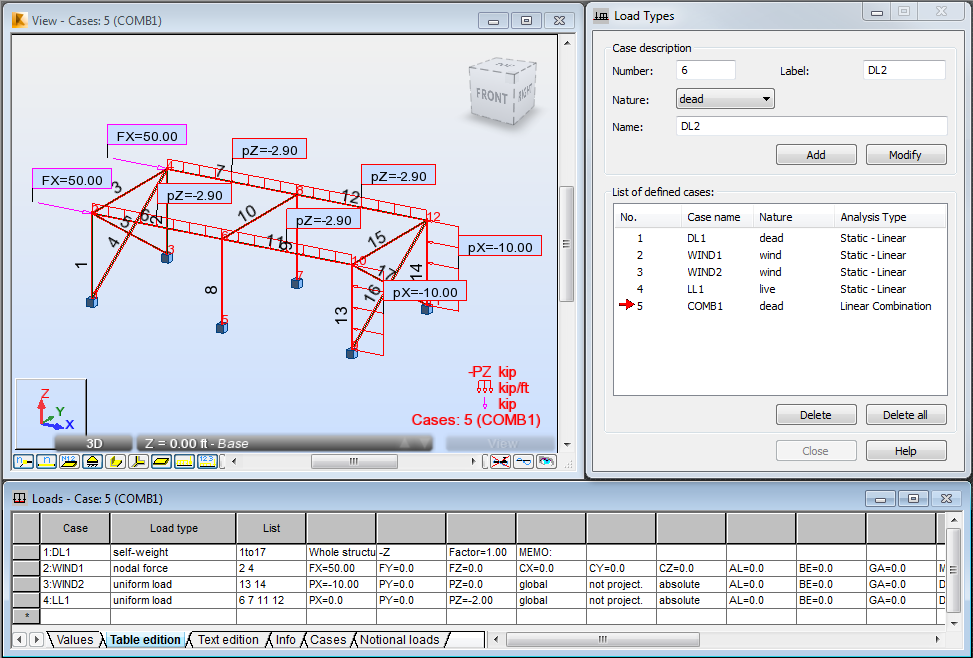 Define loads - 3D frame   Robot Structural Analysis Products ...