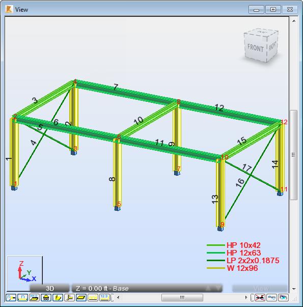 Robot Structural Analysis 2016 Hilfe: Model a 3D frame