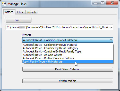 Linking a 3ds Max Scene to the Revit File | 3ds Max 2016 | Autodesk