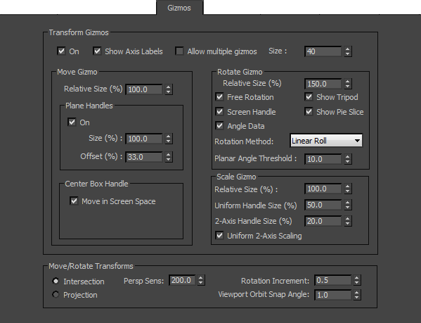 Gizmos Preferences | 3ds Max 2016 | Autodesk Knowledge Network