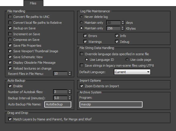 File Preferences | 3ds Max 2016 | Autodesk Knowledge Network