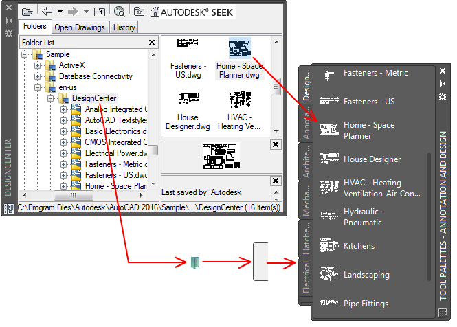About creating tool palettes autocad autodesk knowledge network methods for adding tools to tool palettes ccuart Image collections