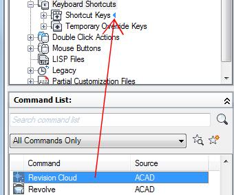 AutoCAD 2016 Help: To Customize Shortcut Keys