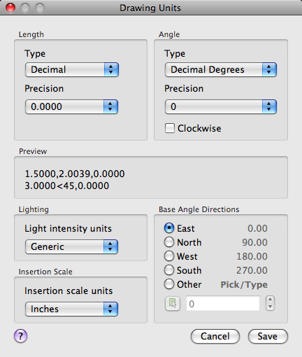Drawing Units Dialog Box | AutoCAD for Mac 2016 | Autodesk Knowledge