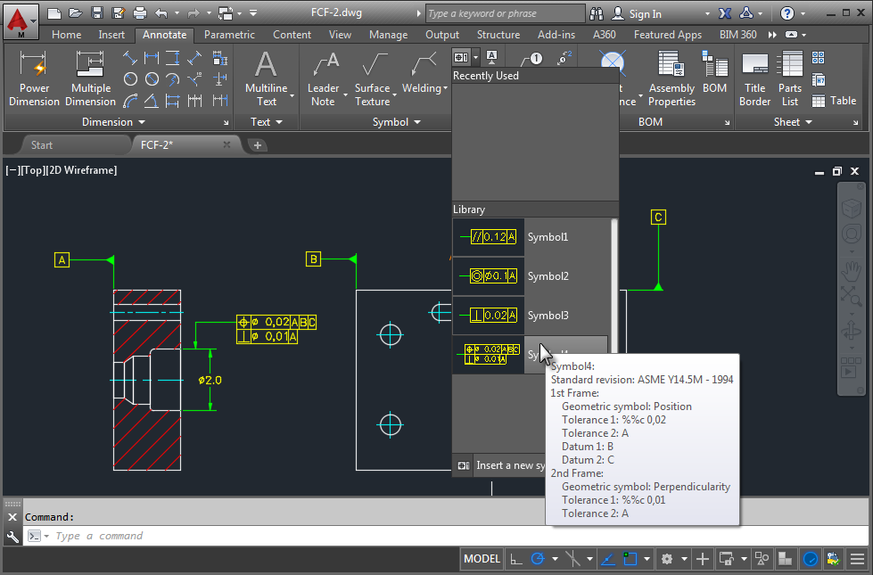 About Reusing Symbols With The Symbol Library Autocad Mechanical