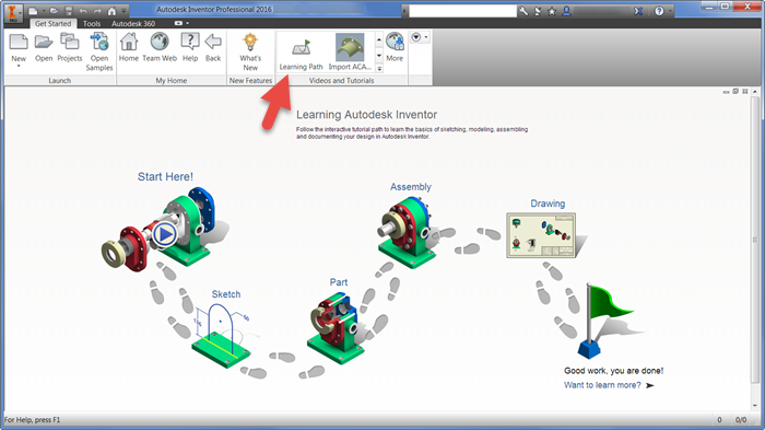Get Started Tutorials | Inventor 2016 | Autodesk Knowledge