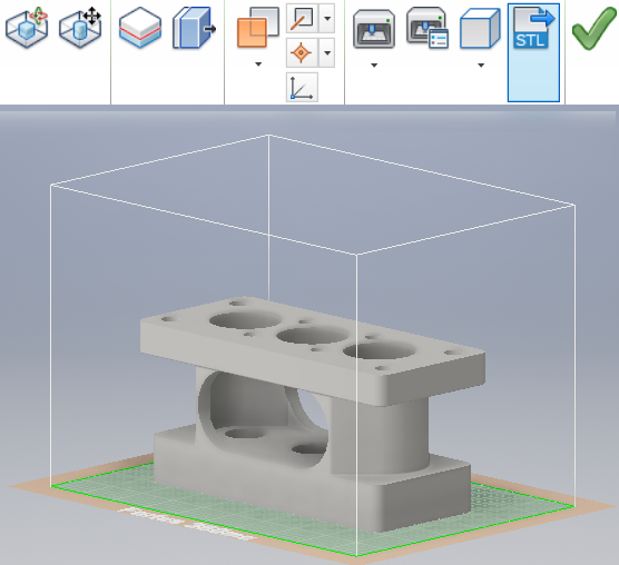 3D Printing Environment - Autodesk Inventor 2016