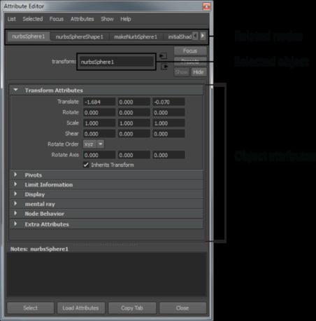 Attribute Editor | Maya 2016 | Autodesk Knowledge Network