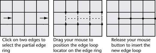 Insert an edge loop across a partial edge ring | Maya 2016