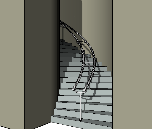 Modified stairs with center railing & Modify Stair Railings | Revit Products | Autodesk Knowledge Network