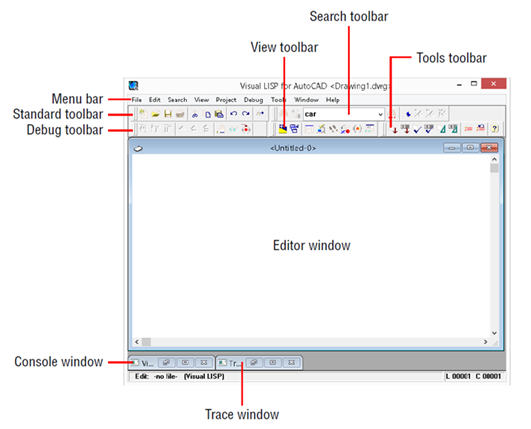 To Open the Visual LISP Editor (Visual LISP IDE) | Search | Autodesk