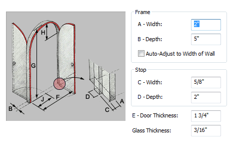 Changing door style dimensions  sc 1 st  Autodesk Knowledge Network & To Specify the Dimensions of a Door Style | AutoCAD Architecture ...