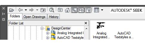designcenter tabs and autodesk seek