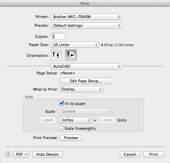 Print Dialog Box | AutoCAD LT for Mac 2017 | Autodesk