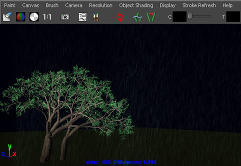 Maya Help: Animate rain effects