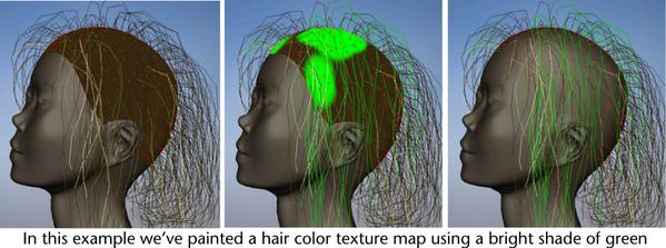maya help paint hair textures