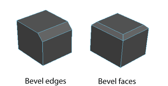 bevel polygon edges and faces maya lt 2017 autodesk knowledge