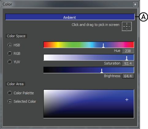 MotionBuilder Help 2017 Help: Color window