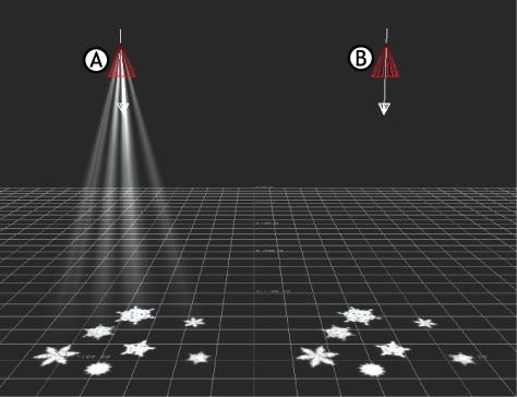 MotionBuilder Help 2017 Help: Showing the light beam