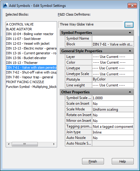 To Add Symbols To Component Class Definitions Autocad Pid 2017