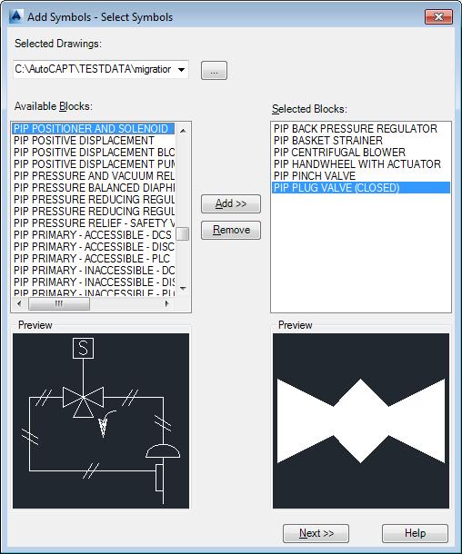 Add Symbols - Select Symbols Dialog Box (Symbol) | AutoCAD