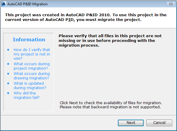 to migrate a project autocad p id autodesk knowledge network