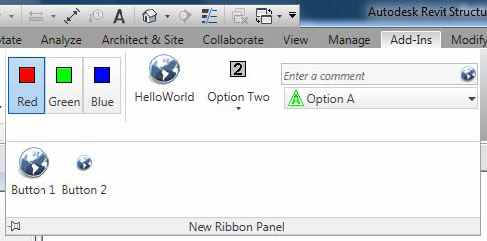 Ribbon Panels and Controls | Search | Autodesk Knowledge Network