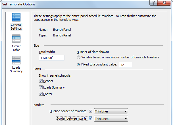 you can modify these settings before or after creating a panel schedule to make it comply to your specifications