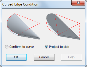 Apply a Curved Edge Condition to a Roof or Structural Floor