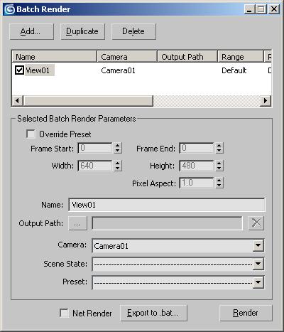 Batch Render Dialog   3ds Max 2018   Autodesk Knowledge Network