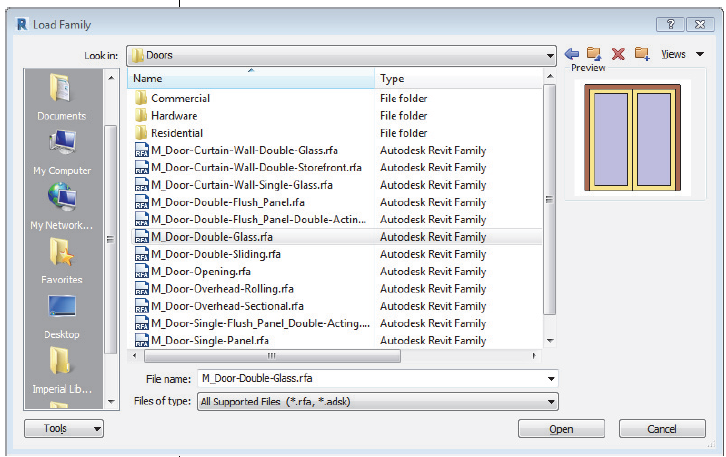 About Loading Door And Window Types From The Revit Library Revit