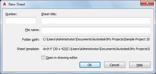 to create a sheet autocad architecture 2018 autodesk knowledge