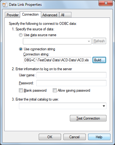 To Create a Data Link to an ODBC Source | AutoCAD