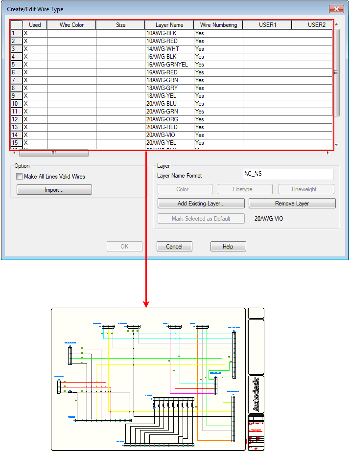 About Wire Layers | AutoCAD Electrical | Autodesk Knowledge Network