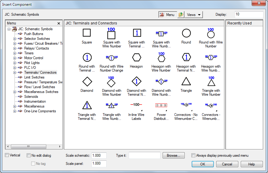 AutoCAD Electrical 2018 Help: Schematic Terminals
