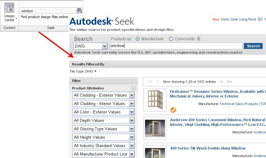 import design content into autocad mep
