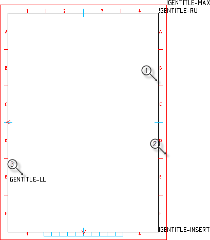 drawing border attribute reference autocad mechanical autocad