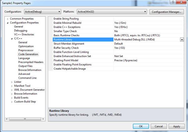 Configuring the FBX SDK for Windows