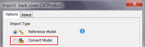 To Import Files from Other CAD systems as a Reference or Convert